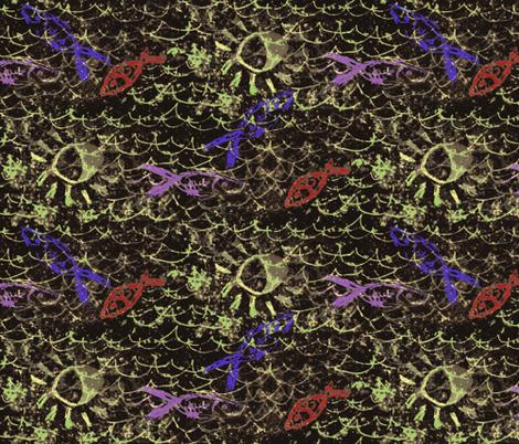 Fish by moonlight fabric by nalo_hopkinson on Spoonflower - custom fabric