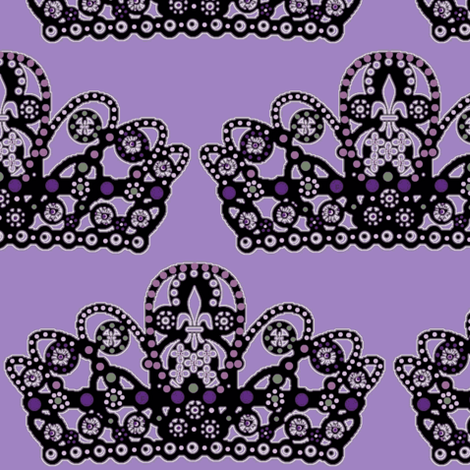 sugarplum_crown #7 / orchid fabric by paragonstudios on Spoonflower - custom fabric