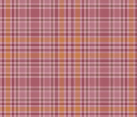 Charlotte Bronte's Wild Roses Plaid on Canvas fabric by peacoquettedesigns on Spoonflower - custom fabric