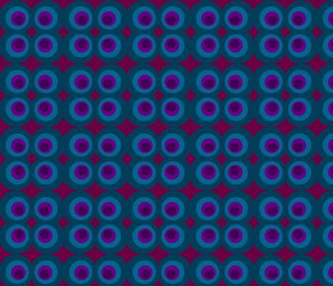 Blue Purple Circle fabric by vidaliah on Spoonflower - custom fabric