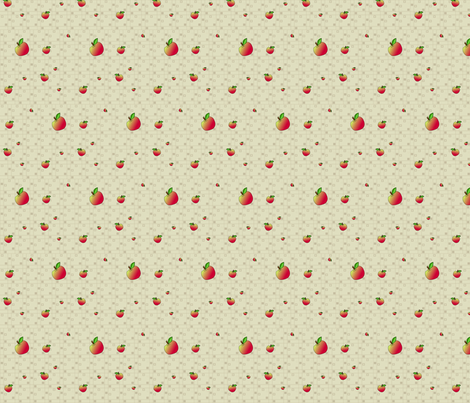 © 2011 An Apple a Day - Companion Apple Fabric fabric by glimmericks on Spoonflower - custom fabric