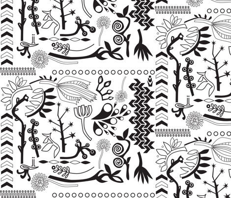 b&w nature fabric by junej on Spoonflower - custom fabric