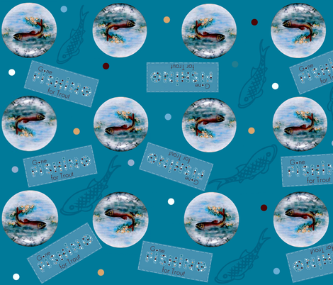 fishing for trout  fabric by paragonstudios on Spoonflower - custom fabric