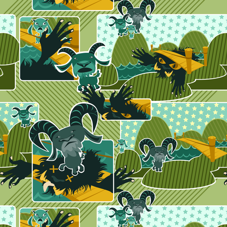 Billy_Goats3 fabric by fuzzyskyfabric on Spoonflower - custom fabric