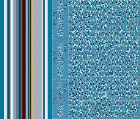 Gone_fishing_runner fabric by paragonstudios on Spoonflower - custom fabric