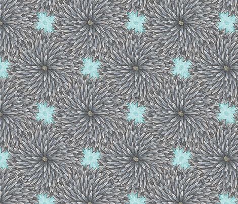 Feather Flower fabric by siya on Spoonflower - custom fabric