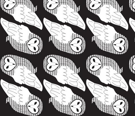 barnowlBW fabric by malien00 on Spoonflower - custom fabric