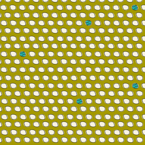 Have A Ball - Baseball Polka Dot Green fabric by heatherdutton on Spoonflower - custom fabric