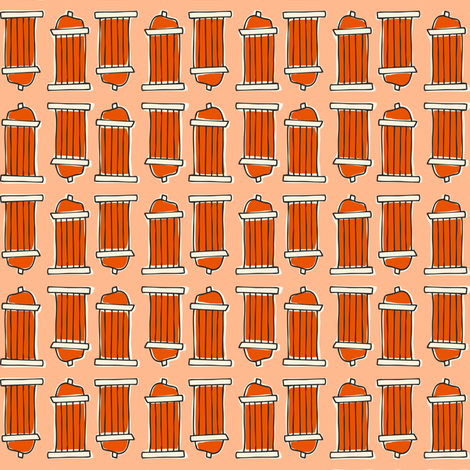 Mark Your Territory - Pets Fire Hydrant Coral fabric by heatherdutton on Spoonflower - custom fabric