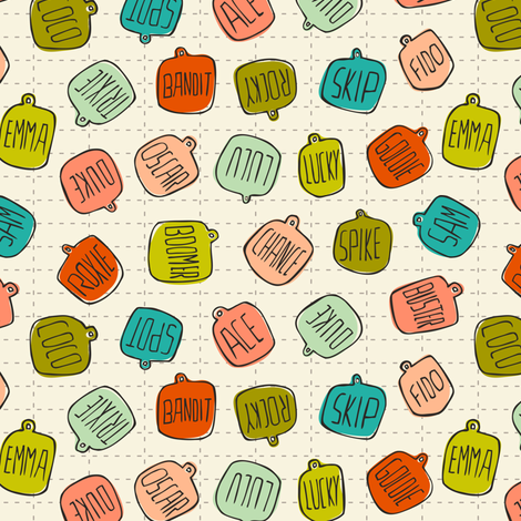 Tag Along - Pets fabric by heatherdutton on Spoonflower - custom fabric