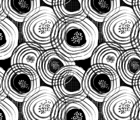 swirling blooms fabric by mandyh on Spoonflower - custom fabric