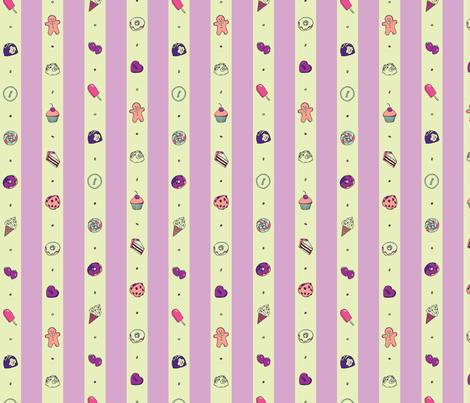 Saccharose Stripe (Purple) fabric by shirayukin on Spoonflower - custom fabric