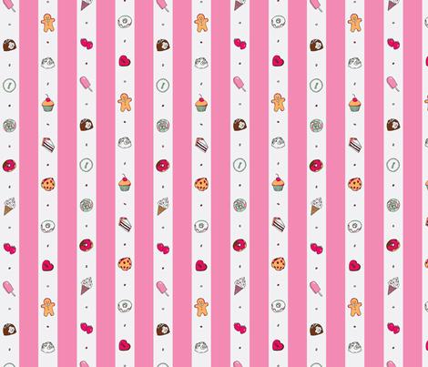 Saccharose Stripe (Pink) fabric by shirayukin on Spoonflower - custom fabric