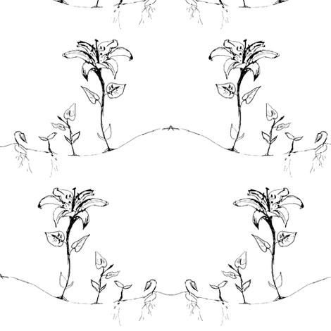 Lilies  fabric by liz_debellis on Spoonflower - custom fabric