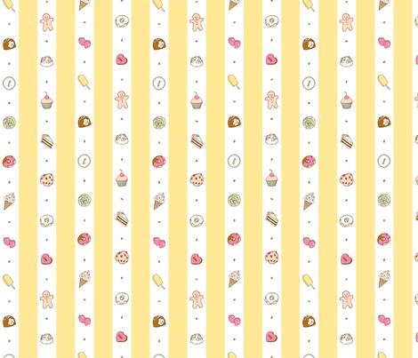 Saccharose Stripe (Pastel) fabric by shirayukin on Spoonflower - custom fabric