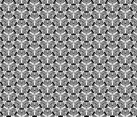 Black and White Sierpinski triangles ©2011 Gingezel™ Inc. fabric by gingezel on Spoonflower - custom fabric