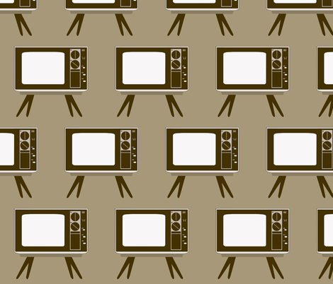 Retro TV fabric by dorolimited on Spoonflower - custom fabric