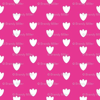 Hot Pink Blossom Dots