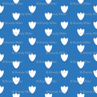 Blue Blossom Dots