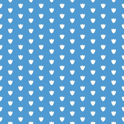 Medium Blue Blossom Dots fabric by brandymiller on Spoonflower - custom fabric