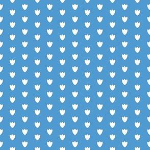 Medium Blue Blossom Dots