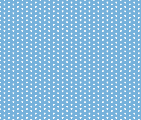 Light Blue Blossom Dots fabric by brandymiller on Spoonflower - custom fabric