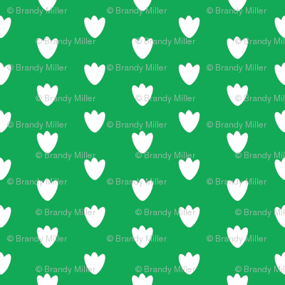 Bright Green Blossom Dots