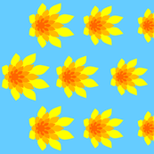 flame flower border