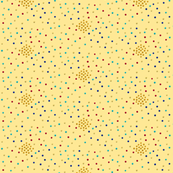 Yellow centered dots, small
