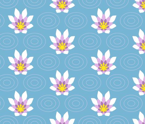 flame flower ripple : summer fabric by sef on Spoonflower - custom fabric