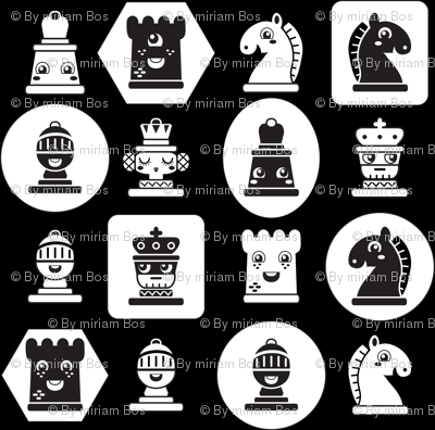 Chess in black