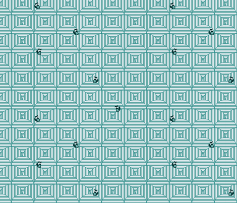 rolling_hills_larger_with_foxes fabric by petunias on Spoonflower - custom fabric