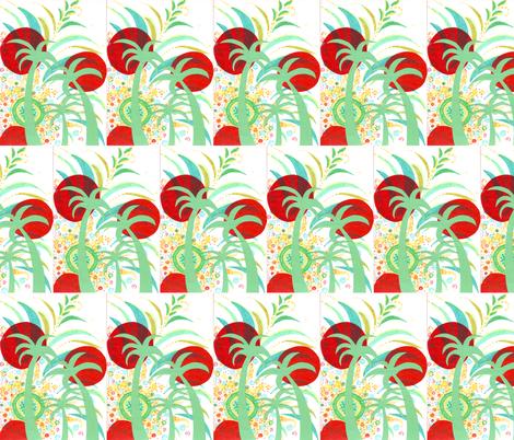 juju's tropical sunset fabric by mimi&me on Spoonflower - custom fabric