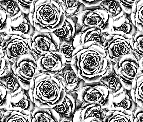 Platinum Roses fabric by twobloom on Spoonflower - custom fabric