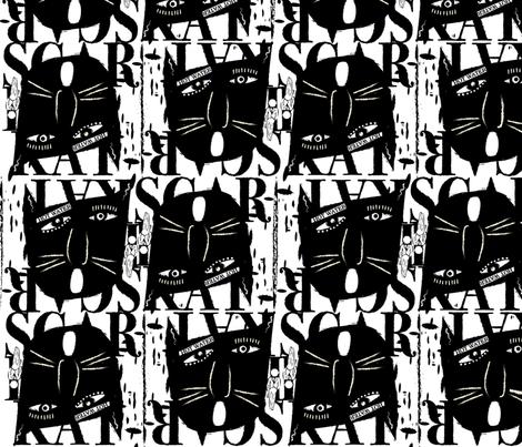 ScaredyCatFabric fabric by suzanne_staud on Spoonflower - custom fabric