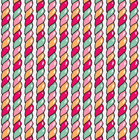 Twisted Candy (Pink) fabric by shirayukin on Spoonflower - custom fabric