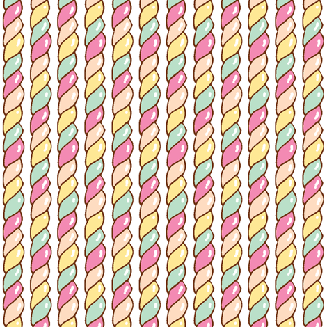 Twisted Candy (Pastel) fabric by shirayukin on Spoonflower - custom fabric