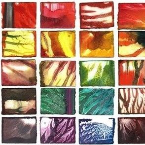 rainbow monoprints