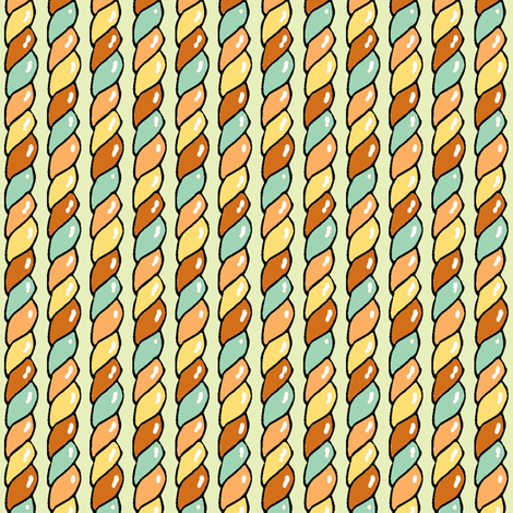 Twisted Candy (Sepia) fabric by shirayukin on Spoonflower - custom fabric