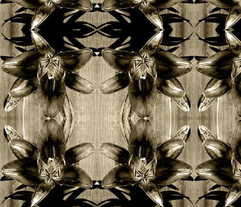 bwlily fabric by melodiemw on Spoonflower - custom fabric