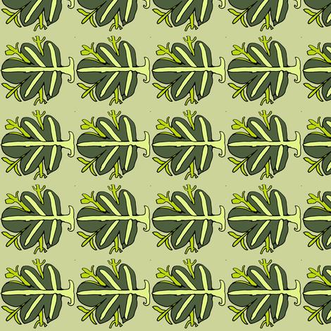 Green Fig Leaf fabric by vidaliah on Spoonflower - custom fabric