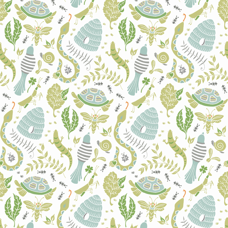 Backyard Party Multi fabric by pattysloniger on Spoonflower - custom fabric