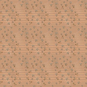 Flowers with Stripes(brown background rbg 198/141/102)