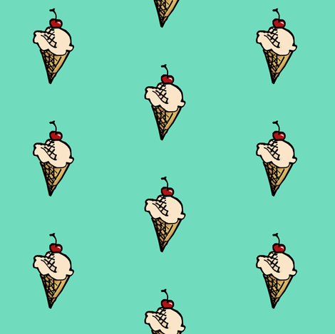 A Cherry on Top fabric by pond_ripple on Spoonflower - custom fabric