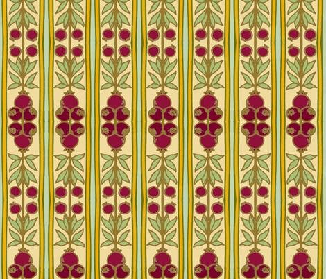 Pomegranate Stripes fabric by vidaliah on Spoonflower - custom fabric