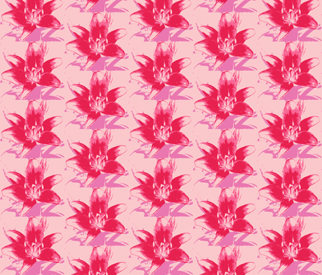 pink lily fabric by melodiemw on Spoonflower - custom fabric