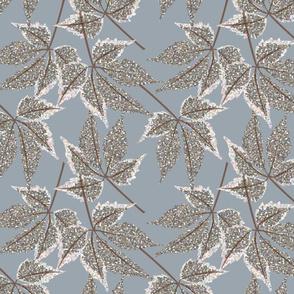 LEAF MOSIAC winter blue