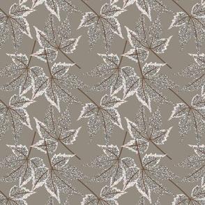 LEAF MOSIAC winter brown