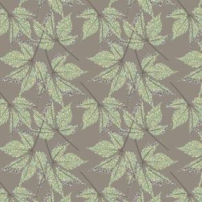 LEAF MOSIAC winter green