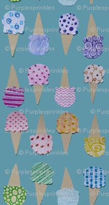 Sweet Pattern Ice Cream Cones